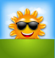 Cool Happy Summer Sun in Sunglasses vector image vector image