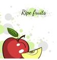Cover Juicy Apple vector image vector image