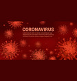 covid19-19 background coronavirus infection germs vector image