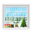 cozy interior room with window vector image vector image
