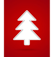 Cut out christmas tree vector image vector image