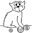 Domestic cat vector image