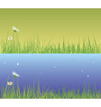 field grass day and evening vector image vector image