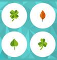 flat icon foliage set of hickory leaf leafage vector image vector image
