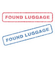 found luggage textile stamps vector image vector image
