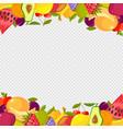 fruits frame healthy vitamin food watermelon vector image vector image