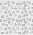 geometric shapes pattern vector image vector image