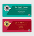 gift certificate voucher gift card or cash coupon vector image vector image