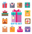 Gifts set in flat style vector image vector image