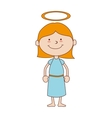 girl halo smiling icon graphic vector image vector image