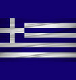 greece flag flag of greece blowig in the wind vector image