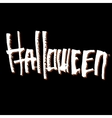 Halloween themed lettering vector image