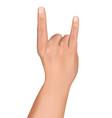 hand fingers heavy metal rock and horn gesture vector image