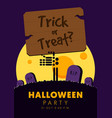 happy halloween party flyer template design vector image