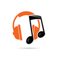 headphone music color vector image vector image