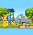 kids playing on playground vector image