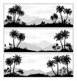 landscapes with palms vector image vector image