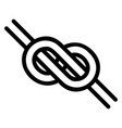 logo is a knotted knot in form an infinity vector image vector image