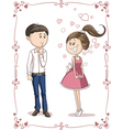 Love at First Sight Cartoon vector image vector image