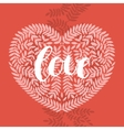 Love card with handdrawn lettering vector image