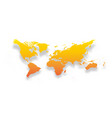 map of world simple yellow-orange gradient vector image vector image