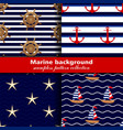 marine background set seamless patterns four vector image