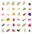 meat icons set isometric style vector image vector image