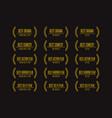 movie award nomination winner icon set vector image