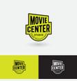 movie center logo video production studio emblem vector image