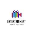 movie entertainment logo vector image