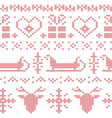 Nordic seamless stitched christmas pattern vector image vector image