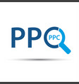 pay per click icon simple ppc symbol vector image vector image
