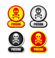 Poison icons vector image