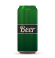 realistic beer can vector image vector image