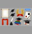 realistic graduate set vector image