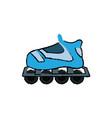 roller skate hobby sport wheel toy vector image vector image