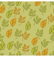 seamless texture with fall hand drawn leaves vector image vector image