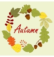 Season frame with autumn leaves vector image vector image