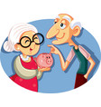 senior couple saving for retirement vector image