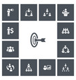 set of 13 editable community icons includes vector image