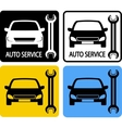 set of auto service icons vector image