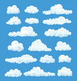 set of cartoon clouds vector image vector image