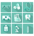 Set of flat design concept icons for medicine vector image vector image