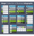 Set of Infographic Templates for Business vector image