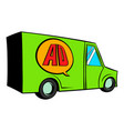sign for advertising on a truck icon cartoon vector image vector image