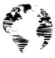 sketch of a globe vector image
