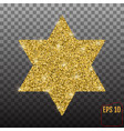 star form with gold glitter effect traditional vector image vector image