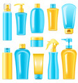 sunscreen cosmetics vector image vector image