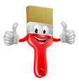 thumbs up paintbrush vector image vector image