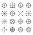 unusual bullseye accurate focus symbols vector image
